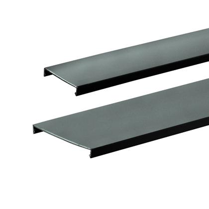 PANDUIT Duct cover, 2 W x 6' length, PVC, black.