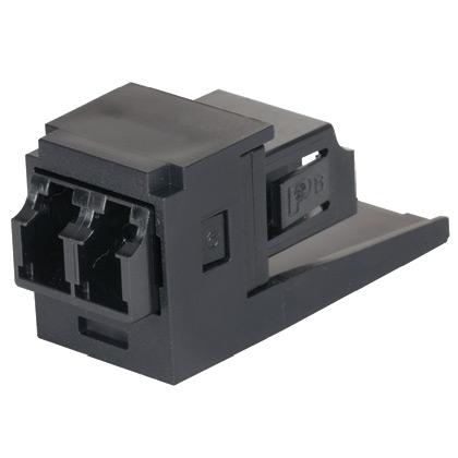 Duplex LC Fiber Adapter (BL) with Module (IW) Phos