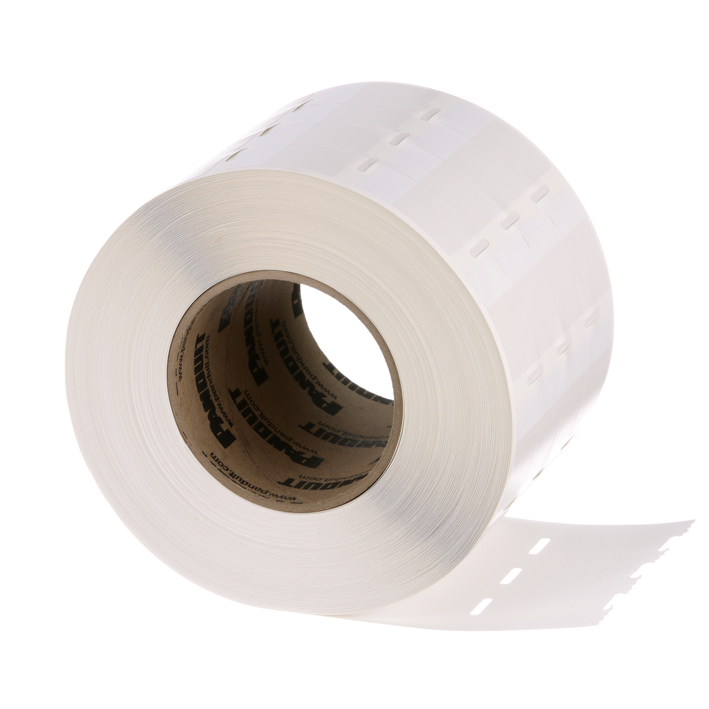 Panduit S100X150VATY 5000/Pack 1.5 x 1 Inch White Vinyl Thermal Transfer Self Laminating Label