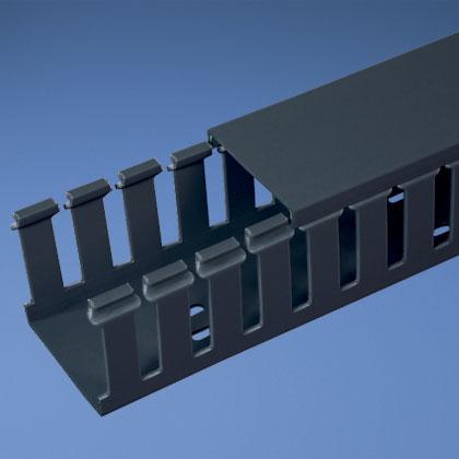 Panduit G2X3BL6 2 Inch x 3 Inch x 6 Foot Black PVC Slotted Duct