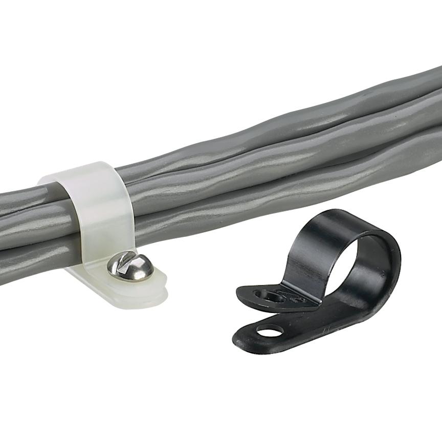 Panduit CCH19-S10-M .19 Inch Bundle #10 Screw Fixed Diameter Cable Clamp