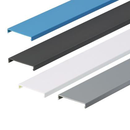 Panduit C3IB6 3 Inch x 6 Foot Blue PVC Duct Cover