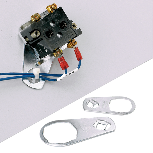 """Control panel switch cable tie mount, .89"""" (22.6mm) hole."""