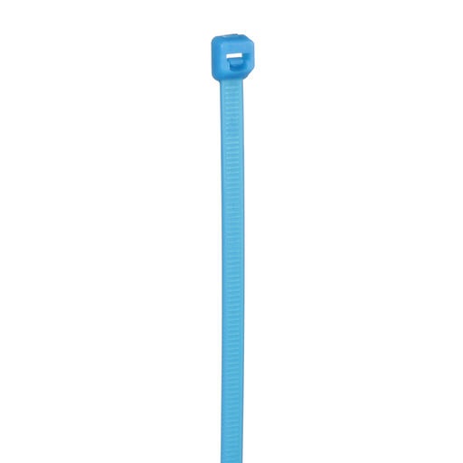 Pan-Ty® locking cable tie, standard cross section, 7.4 (188mm) length, TEFZEL, aqua, 100 pc.