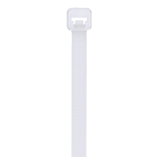 Pan-Ty® locking tie, standard cross section, 4.8 (122mm) length, nylon 6.6, natural, standard package.