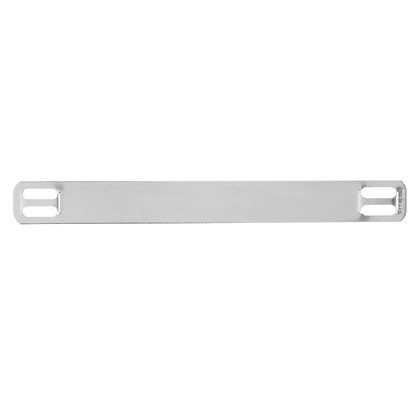 """Marker plate, four holes, 304 Stainless Steel, 3.50"""" x .38"""", standard package."""