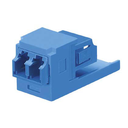 Duplex LC Fiber Adapter (BU) With Module (AW) Zirc