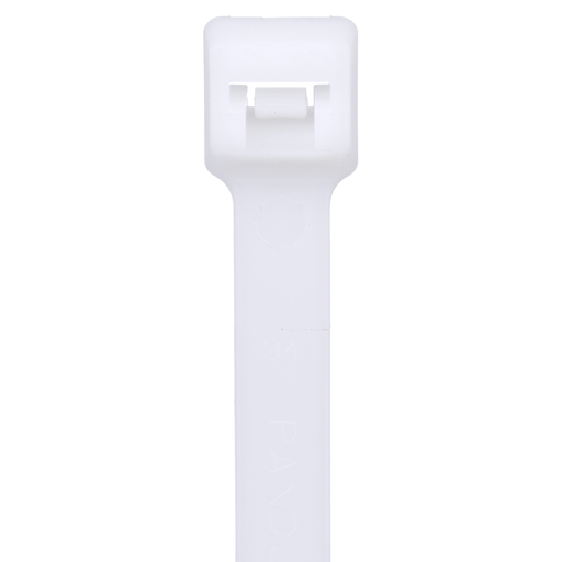 Pan-Ty® locking tie, heavy cross section, 17.7 (450mm) length, nylon 6.6, natural, standard package.