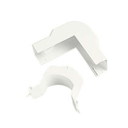 Mayer-Outside corner fitting for use with LDPH3 and LDS3 raceway, White, ABS, Length 2.56 in.-1