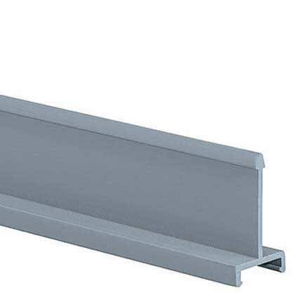 """Mayer-Panduct® solid divider wall, 3.00"""" nominal duct height, 6' length, PVC, light gray.-1"""
