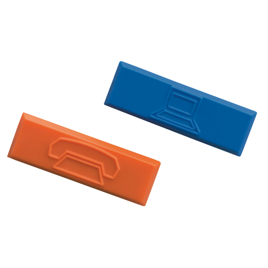 Mayer-Plastic snap-in icon with data image, Blue, 100 pc.-1