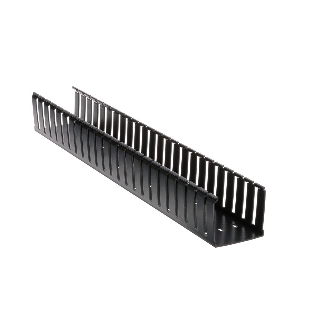 Panduit G3X3BL6 3 x 3 Inch x 6 Foot Black PVC Slotted Duct