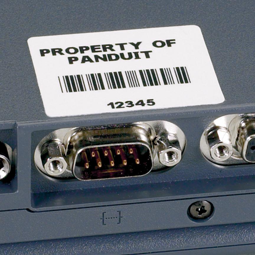 Panduit C100X025YJC P1 Cassette Adhesive Polyester Component Label