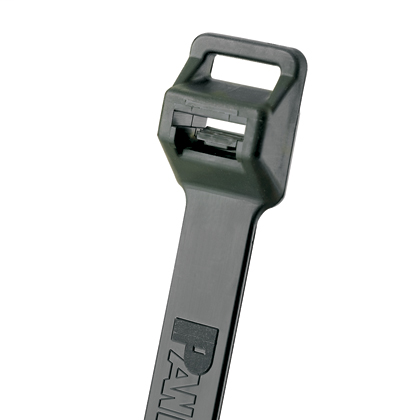 """Mayer-Panduit PLT5EH-Q0 Lashing Cable Ties are ideal for weather resistant heavy duty applications. Extra-Heavy cross section, 20.1"""" (511mm) length. For Indoor or outdoor use, made of Weather Resistant Nylon 6.6 with high resistance to ultraviolet light, are black in color and come in packages of 25.-1"""