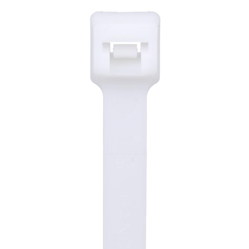 """Mayer-Panduit PLT6H-C Locking Cable Ties are designed to satisfy the needs of general applications, while delivering consistent performance and reliability. Featuring a curved tip to allow for easy pick up from flat surfaces and faster initial threading. Heavy cross section, 20.9"""" (530mm) length. Made of Nylon 6.6, are natural in color and come in packages of 100.-1"""
