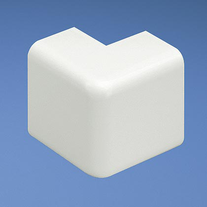 Mayer-Outside corner fitting for use with LD10 raceway, Electric Ivory, ABS, Length 1.5 in.-1