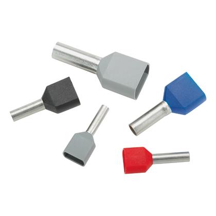 Panduit FTD77-10-D 18 AWG Twin Wire Insulated Ferrule