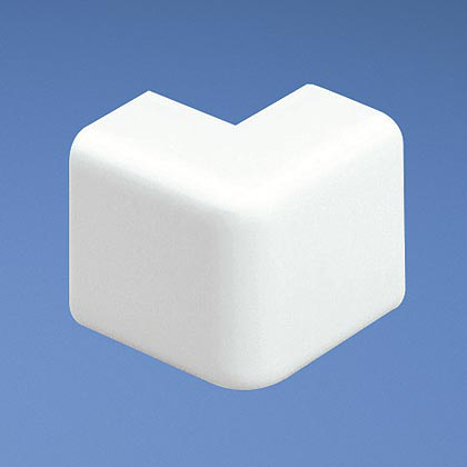 Mayer-Outside corner fitting for use with LDPH5 and LDS5 raceway, White, ABS, Length 1.25 in.-1