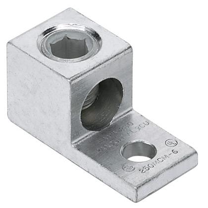 """PAND LAMA1000-58-6Y AlMechLug,500-1000kcmil, 5/8"""" Stud"""