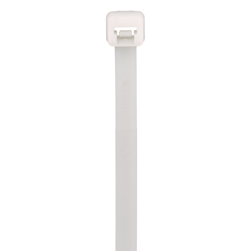 """Mayer-Panduit PLT3S-C Locking Cable Ties are designed to satisfy the needs of general applications, while delivering consistent performance and reliability. Featuring a curved tip to allow for easy pick up from flat surfaces and faster initial threading. Standard cross section, 11.5"""" (292mm) length. For indoor use, made of Nylon 6.6, are natural in color and come in packages of 100.-1"""