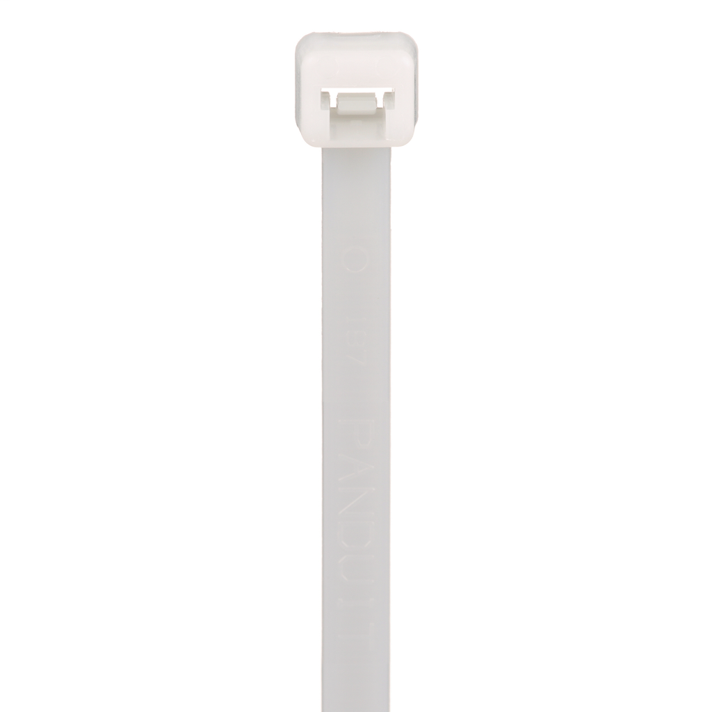 """Mayer-Panduit PLT4S-C0 Locking Cable Ties are designed to satisfy the needs of general applications, while delivering consistent performance and reliability. Featuring a curved tip to allow for easy pick up from flat surfaces and faster initial threading. Standard cross section, 14.5"""" (368mm) length. For Indoor/Outdoor use, made of Weather Resistant Nylon 6.6, are black in color and come in packages of 100.-1"""