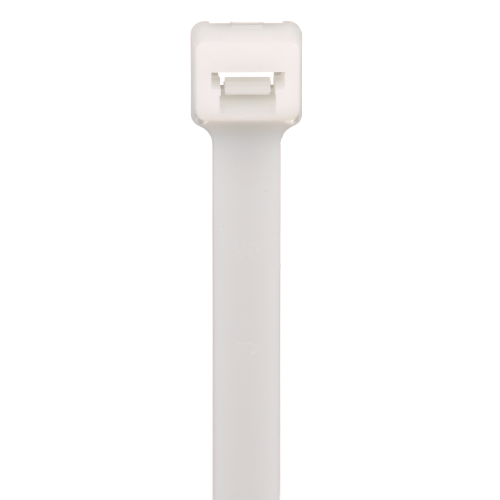 """Mayer-Panduit PLT4H-TL Locking Cable Ties are designed to satisfy the needs of general applications, while delivering consistent performance and reliability. Featuring a curved tip to allow for easy pick up from flat surfaces and faster initial threading. Light-Heavy cross section, 14.5"""" (368mm) length. Made of Nylon 6.6, are natural in color and come in packages of 250.-1"""