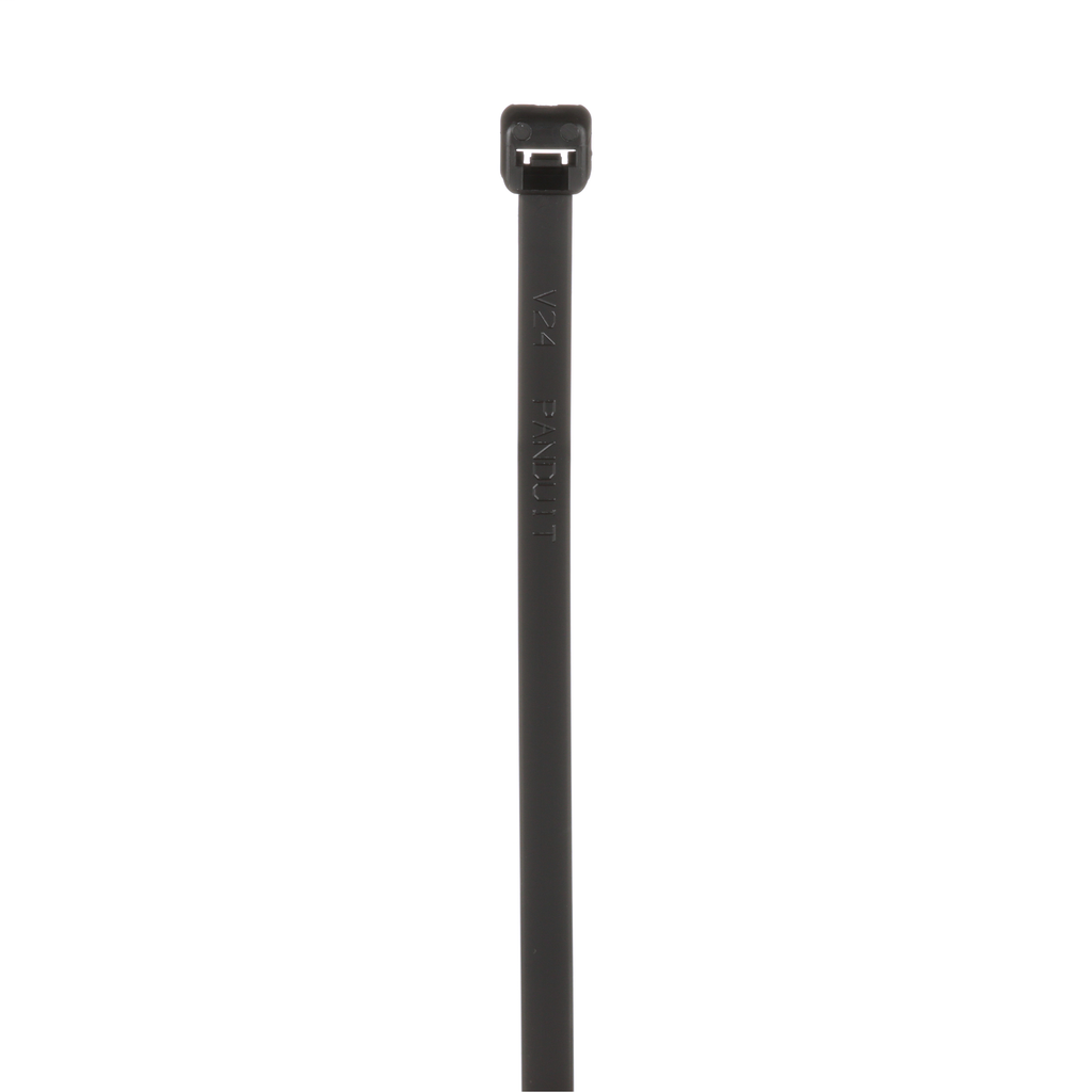 """Mayer-PLT3S-M0 Locking Cable Ties are designed to satisfy the needs of general applications, while delivering consistent performance and reliability. Featuring a curved tip to allow for easy pick up from flat surfaces and faster initial threading. Standard cross section, 11.5"""" (292mm) length. For Indoor/Outdoor use, made of Weather Resistant Nylon 6.6, are black in color and come in packages of 1000.-1"""