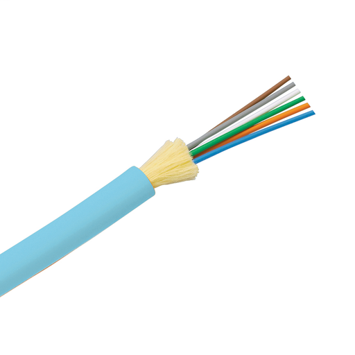 50um OM3 6 Fiber Indoor Distribution Cable, Plenum (OFNP), 900um Buffered Fibers