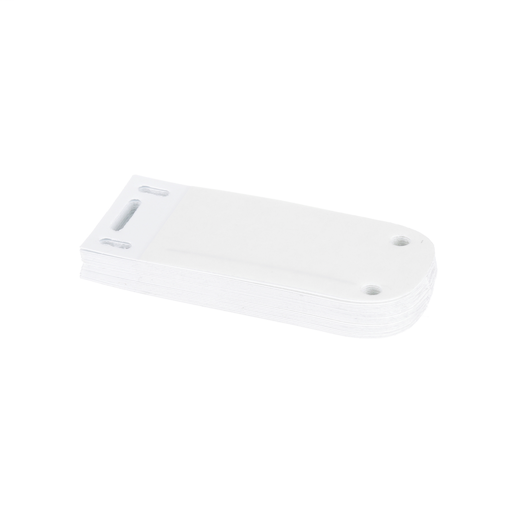 """Mayer-The self-laminating cable marker holder in white measures 3.00""""W x 1.31""""H. It is made of self-laminating vinyl and comes 25 tags to a package, sold individually.-1"""