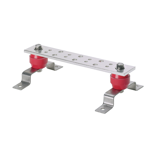 "The GB2B0312TPI-1 Telecommunications Grounding Busbar is tin-plated with twelve holes designed for flexibility in mounting with twelve #12-24 x 1/2"" hex head screws installed."