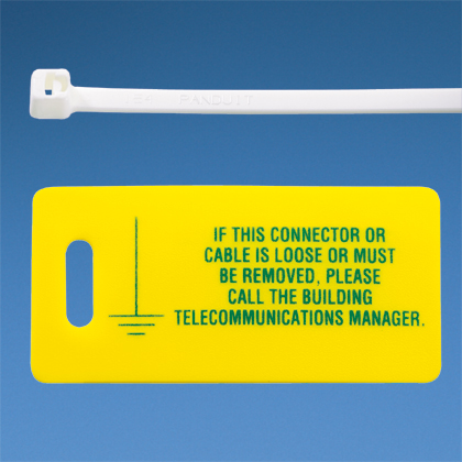 """Mayer-Label kit includes ten printed tags (2.75"""" X 1.38"""") and ten flame retardant cable ties.-1"""