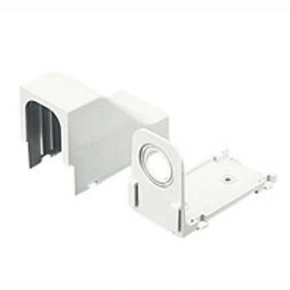 Power rated drop ceiling/entrance end fitting for use with LD3, LDPH3, LDS3, LD5, LDPH5, LDS5, LD10 and LDPH10 raceway. Use CA3 or CA5 adapters for LD3/LDPH3/LDS3 and LD5/LDPH5/LDS5 profile raceway, adapters not required for LD10 and LDPH10 raceway, Off W