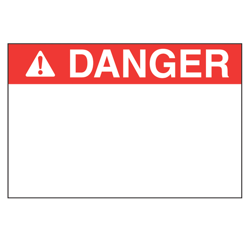 """Mayer-Thermal transfer printable arc flash label, 4.00"""" x 6.00"""" (101.6mm x 152.4 mm), polyester adhesive, red/white danger header, 100 labels/roll, 1 roll/package.-1"""