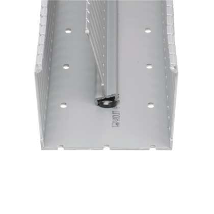 The DB-C Panduct Divider Wall Mounting Base can be mounted inside any type of Panduit PVC wiring duct to create multiple channels. Simply install the divider wall base when mounting the duct and snap the divider wall onto the mounting base. Use Panduit NR