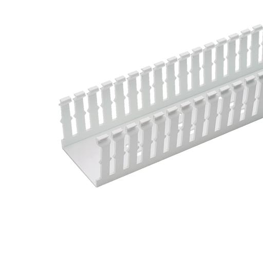 Mayer-Panduct® type F narrow slot wiring duct, 1.5 W x 1.5 H, 6' length, PVC, white.-1