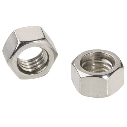 """Stainless steel mounting hardware, 3/8"""" stainless steel nuts."""