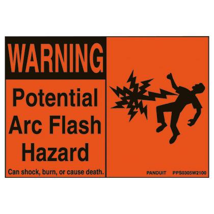 "Polyester Arc Flash Label 3.00"" x 5.00""."