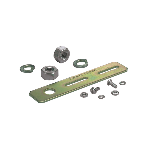 "Used for supporting the 2x2 and 4x4 Fiber-Duct™ Systems from new threaded rod installations. Bracket is secured to threaded rod with two nuts. Contains hardware for attaching to threaded rods and hardware for mounting channel to bracket. For 5/8"" Threaded"
