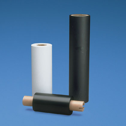 """Ribbon for use with the TDP43MY thermal transfer desktop printer, 4"""" wide, hybrid thermal transfer, black, 12 standard ctn. quantity."""
