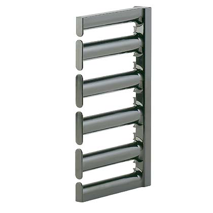 The Panduit Bend Radius Finger Kit manages and protects cables as they transition from active equipment, creating a safe and accessible pathway with proper bend radius control. 5RU, 5.0in deep (129mm), 1pc includes 5 fingers.