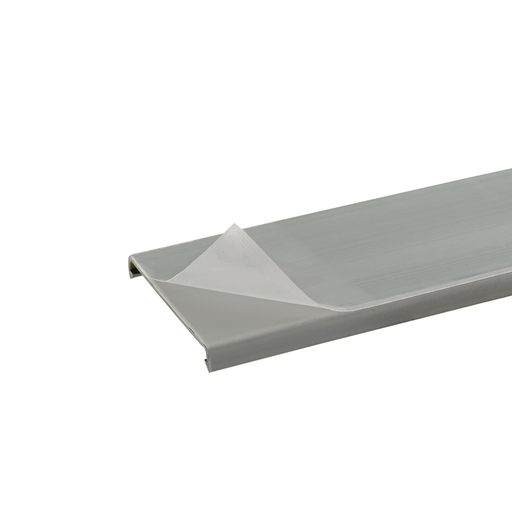 Mayer-Duct cover with protective film, 1.5 W x 6' length, PVC, light gray.-1