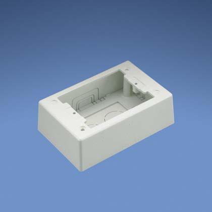 Mayer-Junction Box,Pw,WH,1-gang,5.12,EA-1