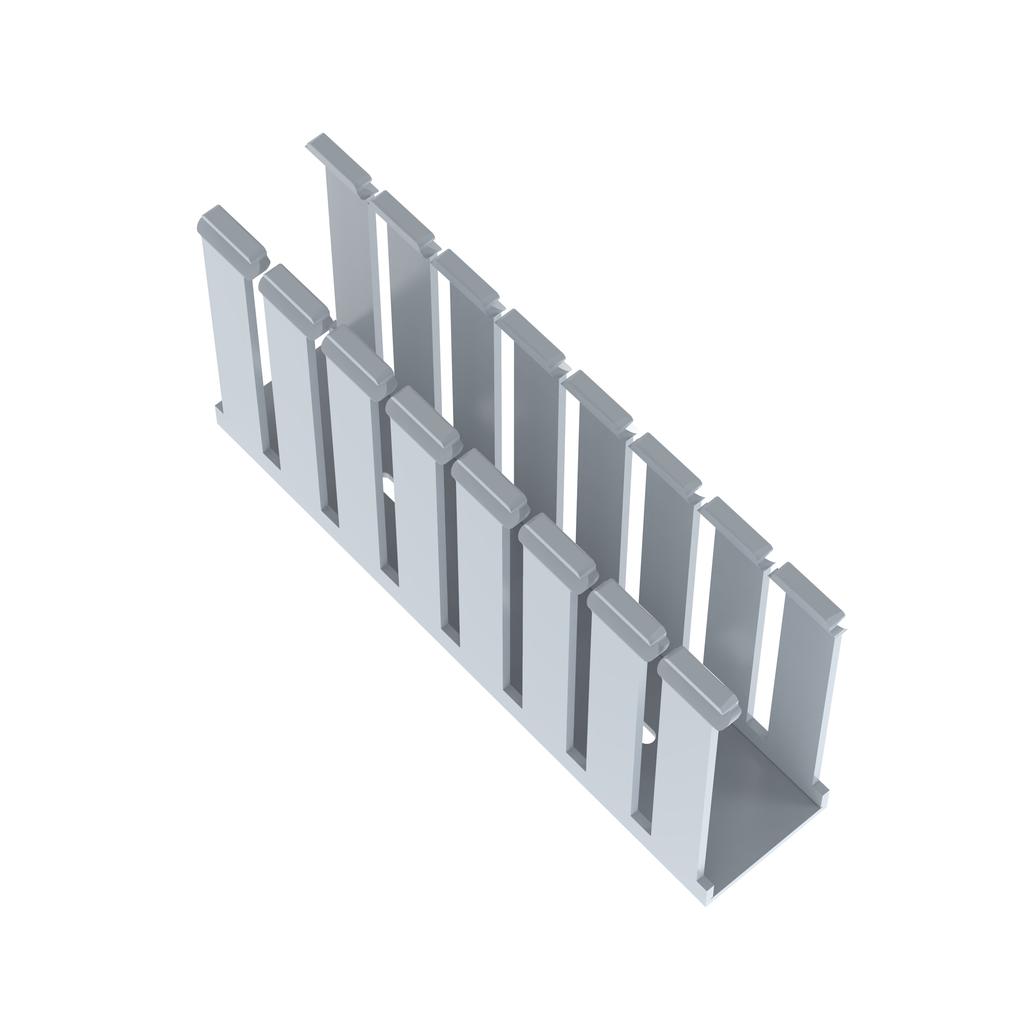 Panduit G1.5X4LG6 1.5 x 4 Inch x 6 Foot Light Gray PVC Slotted Duct