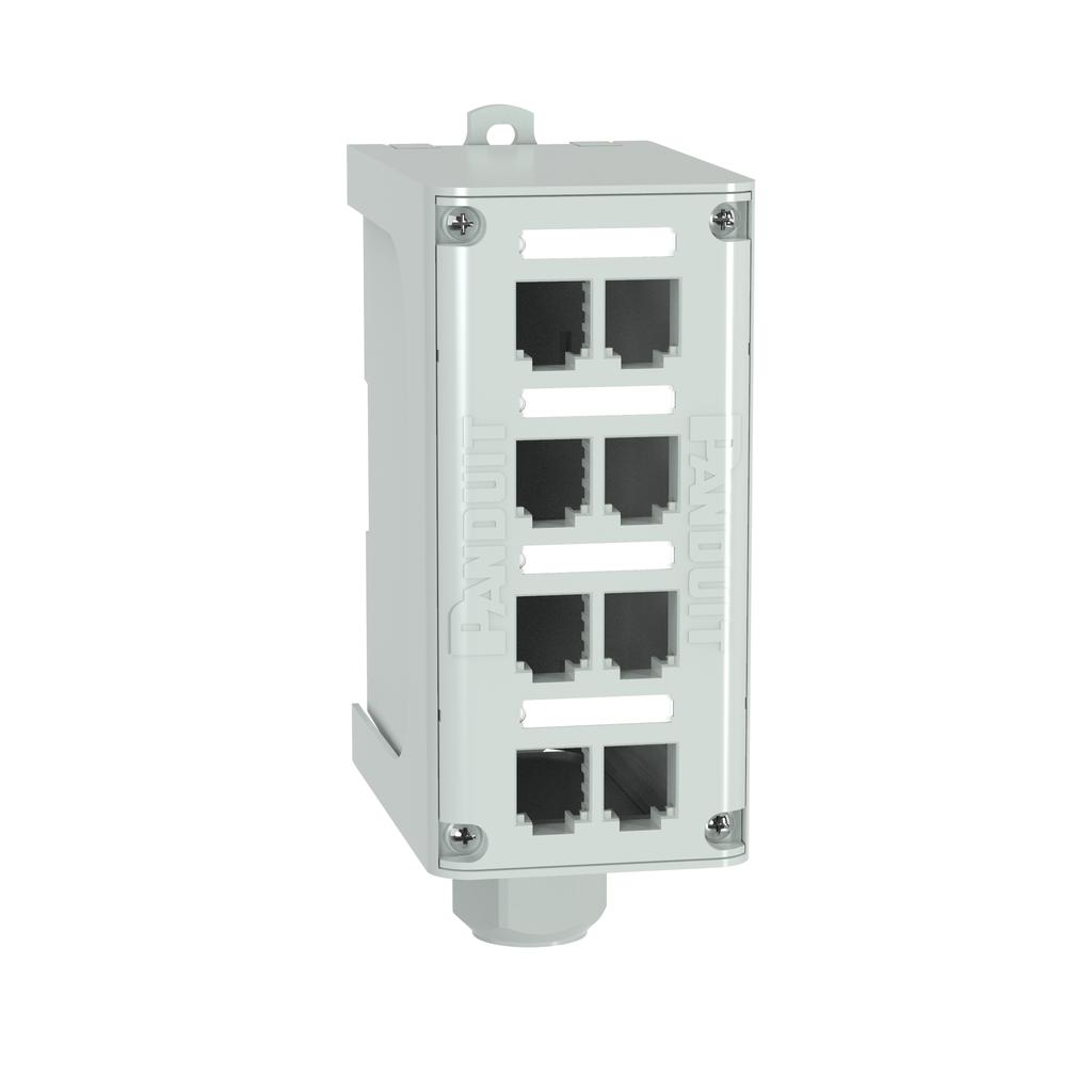 PAN FDME8RG Mini-Com® 8-port DIN Ra
