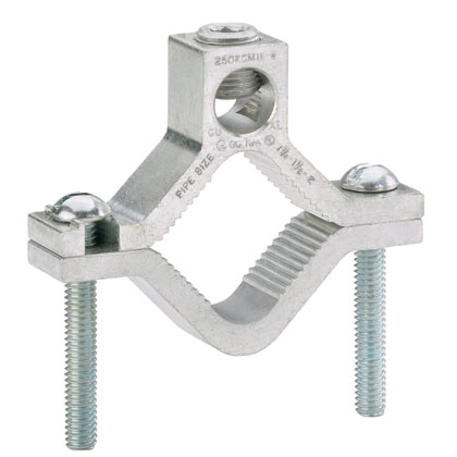 Mayer-Al Grnd Clamp, Dual Rated, #6-250 ,4PK-1