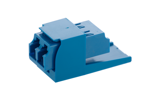 Mayer-Mini-Com® LC Adapter Module, Multimode Duplex, Black-1