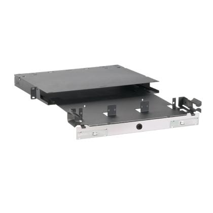 Mayer-Opticom® Rack Mount Fiber Enclosure, Black, 1 RU, 3 Ports-1