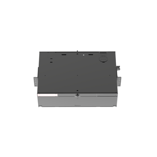 The Panduit® Opticom® 3 RU Rack Mount Fiber Enclosure has integral fiber management and can hold up to 9 FAPs for a maximum of 216 fibers. It ensures network reliability by housing, organizing, managing and protecting fiber optic cable, terminations, spli