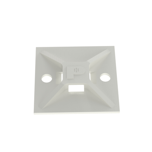 Mayer-Panduit ABM112-AT-C 4-Way Adhesive Backed Cable Tie Mount-1