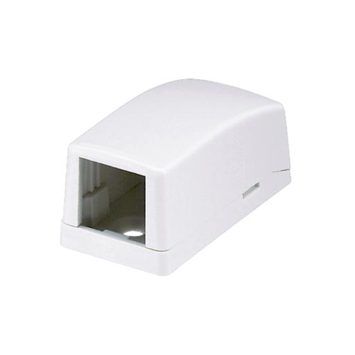 Mayer-Mini-Com® Surface Mount Box, 1 Port, White-1
